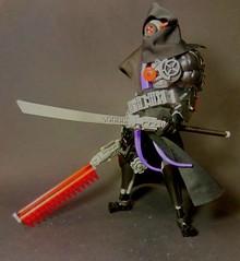 Nindroid (Poor Disadvantaged) Tags: lego ccbs ninja ninjago nindroid robot cloak hood cape katana scope eye