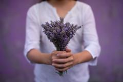 I give you my summer (Nathalie Le Bris) Tags: main monochrome violet lila lavanda hand mano