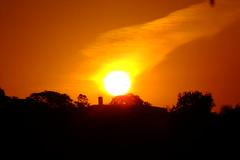 Pôr-do-Sol em Atibaia (Fernando R de A V) Tags: sunset tree sky laranja orange horizonte horizon