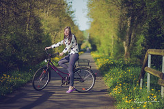 500px Photo ID: 108738279 (kasparssilins) Tags: bike canon7d canon85mm evening flower germany girl grass green kgee nature niederprum people road sport sunny vacation warm wood