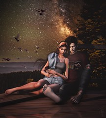 My bounty is as boundless as the sea; my love as deep; the more I give to thee, the more I have, for both are infinite... (trendyandcoffee) Tags: secondlife sl art artist photoshop photograph edition paint draw couple love night summer shakespeare romeoandjuliet avatar