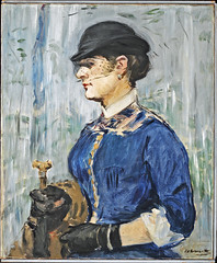 Édouard Manet - Young woman in a round hat (Jeune femme au chapeau rond) [1877-79] (petrus.agricola) Tags: l19886214 caldwell nj usa