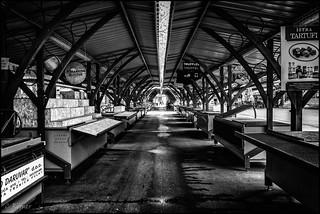 Pula market stalls