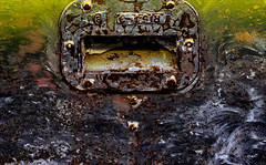 Reconciliation (Junkstock) Tags: aged artifact artifacts abstract abstraction black blackandwhite chaos chaotic color corrosion corroded decay distressed decayed dark darkness green illinois irmorg old oldstuff oldandbeautiful patina paint rust rusty rusted relic rivets textures texture weathered