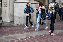San Francisco 2018 (burnt dirt) Tags: sanfrancisco california vacation town city street road sidewalk crossing streetcar cablecar tree building store restaurant people person girl woman man couple group lovers friends family holdinghands candid documentary streetphotography turnaround portrait fujifilm xt1 color laugh smile young old asian latina white european europe korean chinese thai dress skirt denim shorts boots heels leather tights leggings yogapants shorthair longhair cellphone glasses sunglasses blonde brunette redhead tattoo pretty beautiful selfie fashion japanese pink belly hole drink
