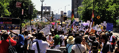 Families Belong Together Protest (Alexander H.M. Cascone [insta @cascones]) Tags: usa nyc new york city manhattan downtown financial district fidi protest rally march keepfamiliestogether standup social justice brooklyn bridge activism citizens crowd signs america rights freespeech