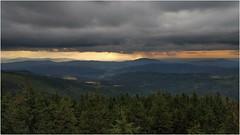 The rain is coming / Idzie dysc (Piotr Skiba) Tags: beskidy clouds rain landscape sun forest mountains poland pl śląskie beskid baraniagóra piotrskiba