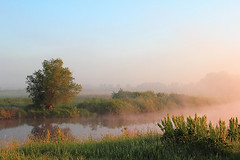 Summer morning by the river (Tatyana Skorokhod) Tags: landscape river morning summer meadows fog dawn ukraine