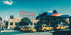 🚕 🚕 🚕 (0sire) Tags: longislandcity queens nyc newyorkcity taxi cab yellow gasstation silvercupstudios cars