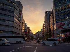 Akihabara sunset (AMcUK) Tags: chiyodaku tōkyōto japan jp em10 omdem10 omdem10mkii em10mkii omd olympus olympusuk m43 micro43rds micro43 microfourthirds nippon tokyo akihabara sunset urban streetscene street