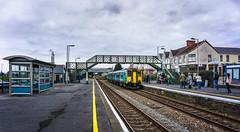 150283 (yarismanlps) Tags: 150283 burryport class150 dmu bridge people platform railway station