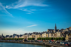 A look at the beautiful ocean front towns along the Normandy coast of France.