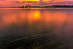 sunset 1093 (junjiaoyama) Tags: japan sunset sky light cloud weather landscape orange contrast color bright lake island water nature summer reflection calmn underwater dusk serene rock
