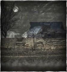 Moonlight magic.... (Sherrianne100) Tags: trees midnight barn magic moonlight surreal