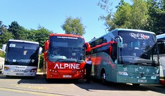 LC2 line up. (Woolfie Hills) Tags: visiting coaches lc2