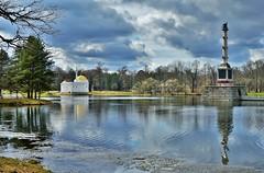 Tsarskoie selo - le grand étang (lecocqfranck) Tags: tsarskoie selo colonne rostrale chesme orlov pavillon bains turcs monighetti
