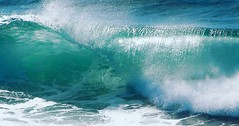 Crescendo (Purple Tomato Images) Tags: cornwall coastline coast shore beautifullight blue breakingwave beach surfing surf waves ocean sea