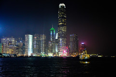 Hong Kong Island and Victoria Harbour at Night - Hong Kong (mbell1975) Tags: hongkong hongkongisland hkhong kong island victoria harbour night hong hk china sar evening sympothy lights sol water harbor sea pacific ocean