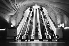 < to the heavens > (Mister.Marken) Tags: stockholmcity homeprocessing adonal kentmere400 nikonl35af stockholm metro madeinsweden monochrome underground stairs escalator mybestshots2018