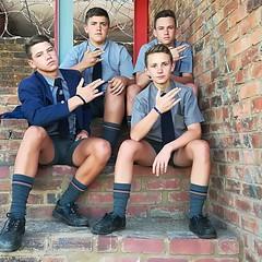 (cane4u) Tags: boy boys schoolboy schoolboys school uniform grey shorts socks tie blazer headmaster spanking discipline corporal punishment cp cane caning strap tawse paddle birch