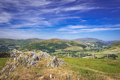 Land of my Father's (Howie Mudge LRPS BPE1*) Tags: landscape nature ngc nationalgeographic natgeo sky bluesky clouds whispyclouds views vista scenery outside outdoors greatoutdoors travel rocks grass hills fence bracken june summer 2018 tywyn bryncrug valley trees gwynedd wales cymru uk sony sonya7ii sonyalpha minoltarokkormcceltic35mmf28lens adaptedlens adaptedglass kfconceptadapter