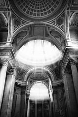 "beautiful light streams into Le Panthéon, adding more glory to it, fine art black & white, Latin Quarter, Paris, France (grumpybaldprof) Tags: panthéon pantheon temple church mausoleum burial memorial celebration ""latinquarter"" ""stgenevieve"" neoclassical ""5tharrondissement"" ""kinglouisxv"" 1744 ""jacquesgermainsoufflot"" architect 1790 foucaultpendulum"" 1851 physicist ""léonfoucault"" voltaire rousseau ""victorhugo"" ""émilezola"" ""jeanmoulin"" ""louisbraille"" paris france bw blackwhite ""blackwhite"" ""blackandwhite"" noireetblanc monochrome ""fineart"" ethereal striking artistic interpretation impressionist stylistic style contrast shadow bright dark black white illuminated canon 7d ""canon7d"" tamron 16300 16300mm ""tamron16300mmf3563diiivcpzdb016"""