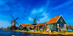 1644 (190/365) (Walimai.photo) Tags: molinos mills cielo sky zaanseschans lumix lx5 panasonic water agua color colour bleu blue azul