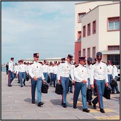 Young Marines_Rolleiflex 3.5B (ksadjina) Tags: 6x6 c41 carlzeisstessar35 italy kodakektar100 marines nikonsupercoolscan9000ed rolleiflex35b silverfast trieste analog film scan summer