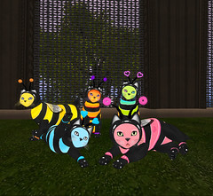 My collection of LoVe BeeS! The entire collection by KittyCatS (Alexandra Twitchy) Tags: firestorm secondlife kittycats breedables virtual reality secondlife:region=bastet secondlife:parcel=castleincantatusforestdragonsmeldhamlet secondlife:x=16 secondlife:y=232 secondlife:z=58