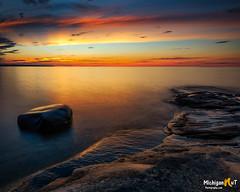 Twilight at Pictured Rocks National Lakshore (Michigan Nut) Tags: lakesuperior longexposure minersbeach munising nationalpark nature picturedrocksnationallakeshore sunet upperpeninsula
