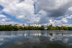 Izmailovo Kremlin. (Oleg.A) Tags: sunny art church nature water city clouds pond morning summer orthodox design izmailovskypark white wood landscape russia kremlin old outdoor lake materials town exterior blue colorful museum izmailovskykremlin sky moscow building vintage architecture style landscapes outdoors москва moskva ru