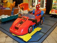 OH Cincinnati - Spiderman Ride (scottamus) Tags: cincinnati ohio hamiltoncounty coin op operated ride childrens kiddie spiderman cincinnatimills