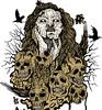 Demon Girl with Skull Vector Tee Design (stockgraphicdesigns) Tags: bird demon demongirl girl skull smartpack09