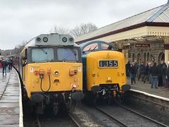 50015 and 55009 at Ramsbottom 13/4/18 (Flikrman Gaz) Tags: class50 class55 deltic alycidon valiant eastlancashirerailway