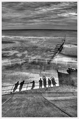Silhouettes in Hornsea (Andrew Kettell) Tags: hornsea coast sea hdr
