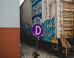 D (◀︎Electric Funeral▶︎) Tags: omaha midwest councilbluffs nebraska lincoln fremont desmoines kansascity kansas missouri iowa graff graffiti paint aerosol art freight train traincar freighttraingraffiti railway railroad railcar benching benched freighttrain rollingstock fr8train fr8heaven canon 5d digital photography d sign