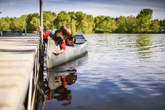 """The """"Harry"""" way of fishing (Elizabeth Sallee Bauer) Tags: nature active boat bonding boy canoe child childhood children dock family fishing fun girl happiness happy kid lifestyle outdoors outside playing qualitytime saftey sun together togetherness youth"""