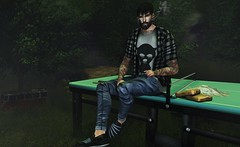 † 1033 † (Nospherato Destiny) Tags: secondlife sl avatar event blogger virtual malefashion guy tattoo beard