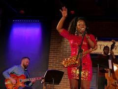 Tia Fuller (JuhaOnTheRoad) Tags: tiafuller jazz music concert woman performance saxophone drums guitar bass dcjazzfestival2018