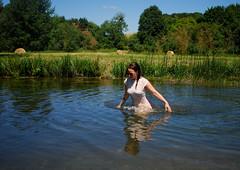 coln 2 (croslandadam) Tags: coln st aldwyn bibury cotswolds beauty nature woman river field nikon d80 28mm 28 af
