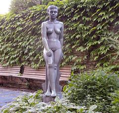 Margit, bronze sculpture (1946) by Bror Hjorth (Gösta Knochenhauer) Tags: 2014 august nikon coolpix p520 sculpture skulptur plastik nude naked nue female femme woman marabouparken museum sundbyberg stockholm sverige sweden schweden suède svezia suecia bronze bror hjorth margit art dscn5913nik dscn5913 nik