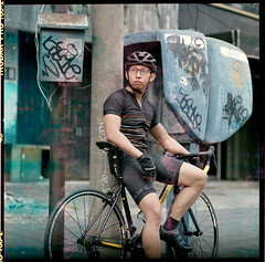 Editorial : The cycling lifestyle (yopinw) Tags: editorial hasselblad 500cm kodakfilm kodakektacolor160 ektacolor160 sonnar 150mm jakarta carlzeiss