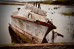 Beached Fishing Boat - Gay Seafood Company - Frogmore SC (Meridith112) Tags: beaufortcounty gayfishco captainbustergay beaufort sc south southcarolina carolinas lowcountry seaislands decay rust boat abandoned nikon nikon2485 nikond610 2018 april spring hurricane hurricanematthew hurricaneirma atlanticocean ocean creek johnsonscreek frogmore frogmorestew beached fishingboat