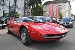 Maserati Merak SS 1975 (Monde-Auto Passion Photos) Tags: voiture vehicule auto automobile maserati merak ss coupé red rouge sportive supercar rare rareté ancienne classique collection vente enchère osenat france fontainebleau