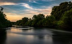 Der Amazonas am Niederrhein (st.weber71) Tags: nikon nrw d850 natur wasser fluss himmel wolken lzb langzeitbelichtung graufilter outdoor strömung lippe niederrhein blauestunde germany deutschland bäume wolkenstimmung licht