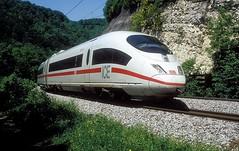 403 037  Geislinger Steige  25.05.04 (w. + h. brutzer) Tags: geislingersteige eisenbahn eisenbahnen train trains deutschland germany ice railway zug db 403 webru analog nikon triebzug triebzüge
