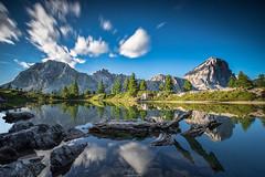 Mirror (F!o) Tags: mirror spiegel lago limides dolomites dolomiten südtirol tirol tyrol south alpen alps mountains berge wetter haida langzeitbelichtung longtime exposure