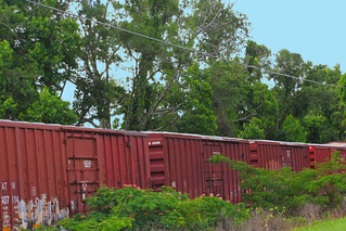 String of Box Cars Stored on Valdosta Railway