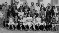 Class photo (theirhistory) Tags: children kids boys pupils students girls school class form group teacher jacket shorts shoes wellies jumper boots