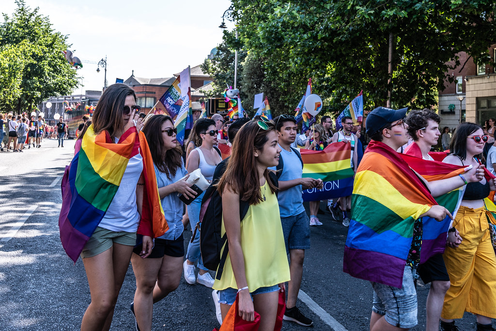 ABOUT SIXTY THOUSAND TOOK PART IN THE DUBLIN LGBTI+ PARADE TODAY[ SATURDAY 30 JUNE 2018] X-100105
